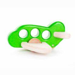 Speelgoed Bajo Houten Vliegtuig Groen