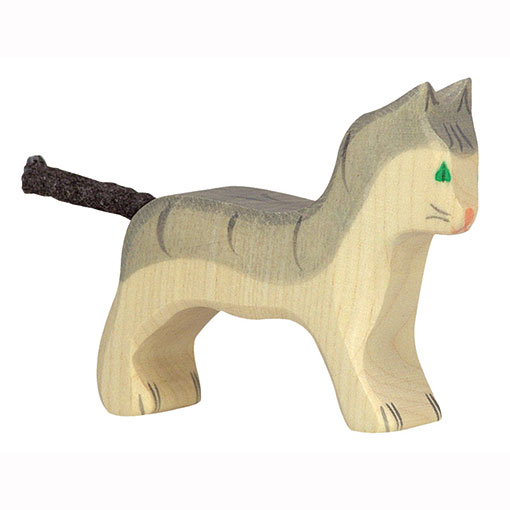 Holztiger Houten Speelgoed Kat Grijs