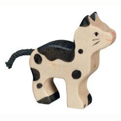 Holztiger Houten Speelgoed Kat Zwart Gevlekt