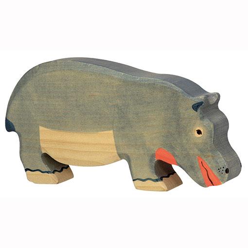 Holztiger Houten Nijlpaard Groot