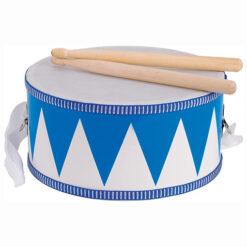 Goki Houten Trommel Blauw