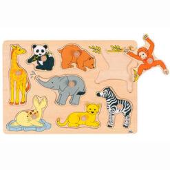 Houten legpuzzel dierentuindieren