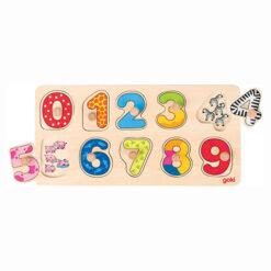 Houten legpuzzel leren tellen