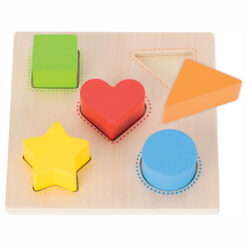 Houten sorteerspel kleuren en vormen