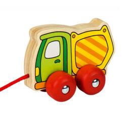 Houten trekfiguur voertuig betonwagen