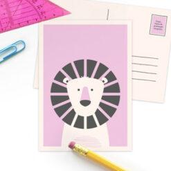 Postkaart Beestenfeest Leeuw