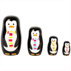 Small Foot Houten Matroesjka Pinguïn Familie