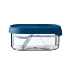 School Fruitbox Blauw met Vorkje