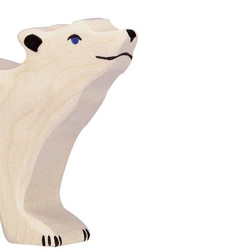 Wooden Toy Holztiger Polar Bear Baby