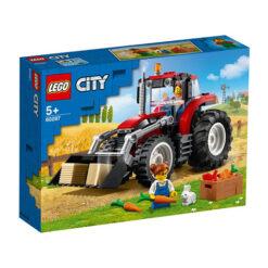 Rode Tractor van Lego City Set 60287