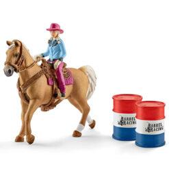 Barrel Race Paard met Cowgirl Schleich 41417