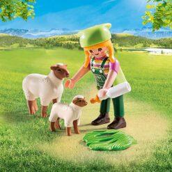 Playmobil schapenhoedster speelgoed plus een Schaap en lam