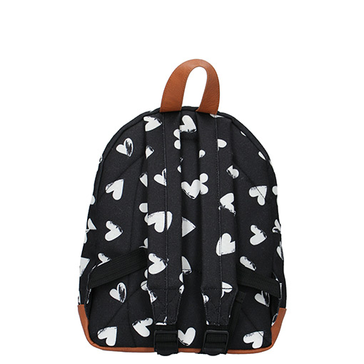 Backpack Black with White Harts