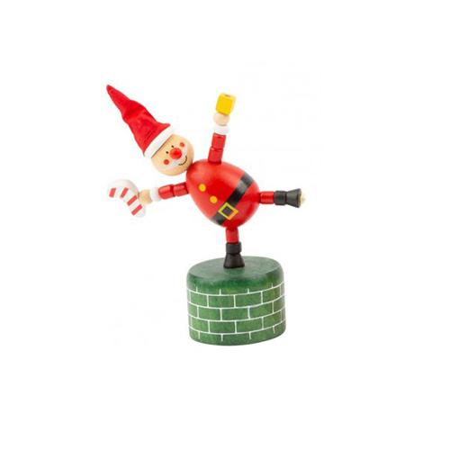 Dansende Houten Kerstman Figuur