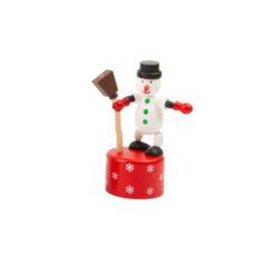 Dansende Speelgoed Sneeuwpop met Bezem