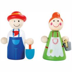 Poppetjes Boer en Boerin